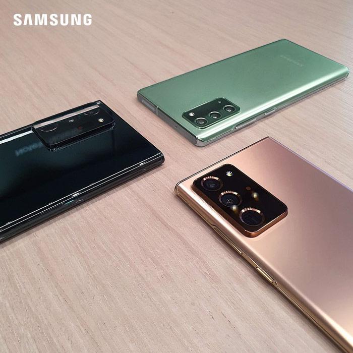 Samsung note 20 với 3 màu